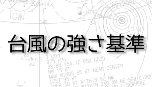 台風の強さ基準