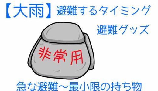 【大雨】避難するタイミング&避難グッズ~急な避難•最小限の持ち物