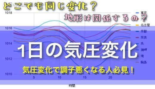【東京は激しい?!】1日の気圧変化を30日間観察したら意外な結果が…