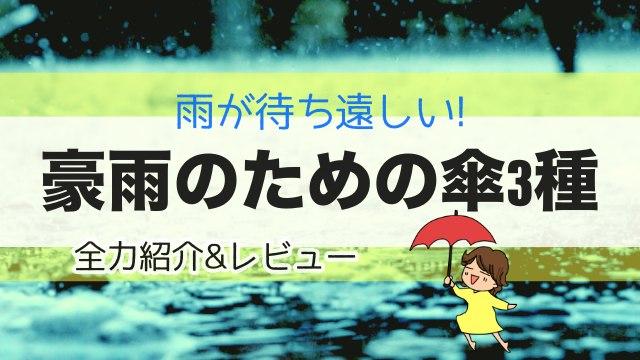 豪雨のための傘