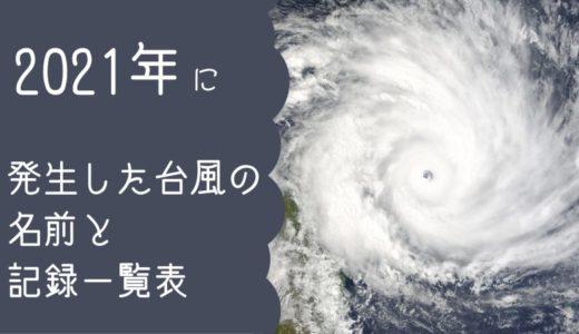2021年に発生した台風の名前と記録一覧表